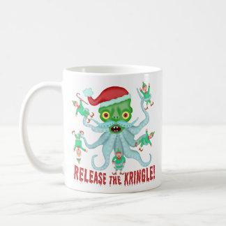 Caneca De Café Liberação engraçada do Natal o Kringle Papai Noel