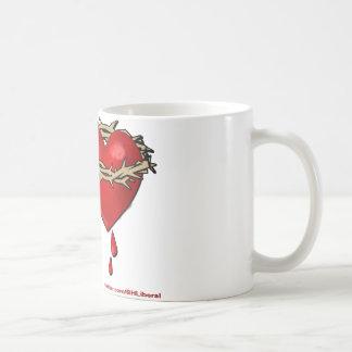 Caneca De Café Liberal orgulhoso do coração de sangramento