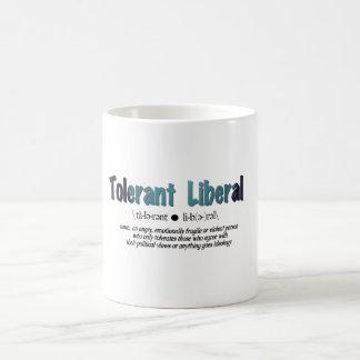 Caneca De Café Liberal tolerante