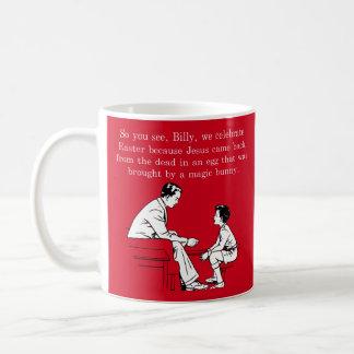 Caneca De Café Lição da páscoa de Billy