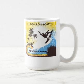 """Caneca De Café """"Lições a bordo"""" da curvatura seu copo dos joelhos"""