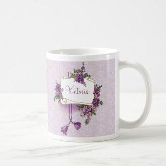 Caneca De Café Lilacs do vintage personalizados