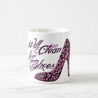 Caneca De Café Limpará para os calçados, copos engraçados para