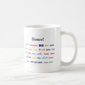 Caneca De Café Língua da dança!  Palavras para a dança no mundo