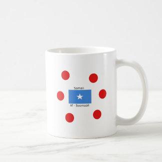 Caneca De Café Língua e design somalianos da bandeira de Somália