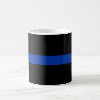 Caneca De Café linha azul fina lei da polícia