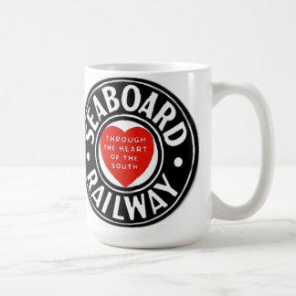 Caneca De Café Linha de ar logotipo Railway da costa do coração