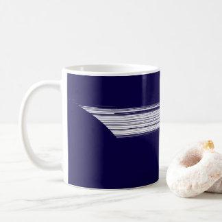 Caneca De Café linhas brancas