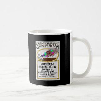 Caneca De Café Líquido escrevendo da tevê de Sanford notícia
