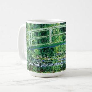 Caneca De Café Lírios de água e ponte japonesa, Claude Monet