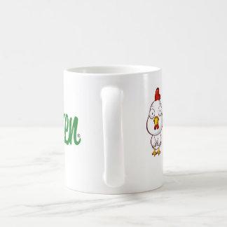 Caneca de café lisa da galinha