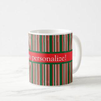 Caneca De Café Listras do Natal