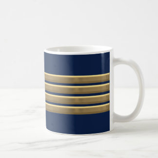 Caneca De Café Listras do ouro do capitão
