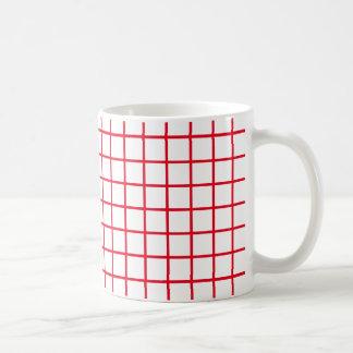 Caneca De Café Listras vermelhas brilhantes da estrutura