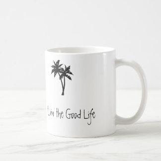 Caneca De Café Livin a boa vida, palmas