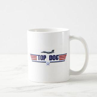 Caneca De Café Logotipo do cão superior