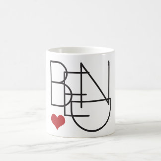 Caneca De Café Logotipo do coração da palavra de Oregon da