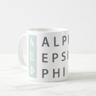 Caneca De Café Logotipo empilhado   alfa da phi do épsilon