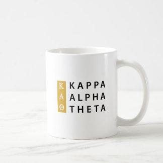Caneca De Café Logotipo empilhado   alfa da teta do Kappa