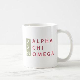 Caneca De Café Logotipo empilhado | alfa de Omega do qui