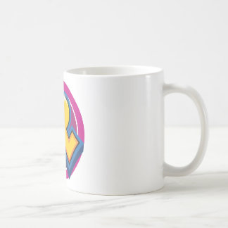 Caneca De Café Logotipo reduzido da ruptura