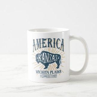 Caneca De Café Logotipo referente à cultura norte-americana do