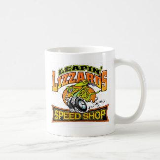 Caneca De Café Loja da velocidade de Leapin Lizzard