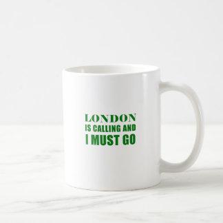 Caneca De Café Londres está chamando e eu devo ir