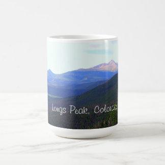 Caneca De Café Longs o parque nacional de montanha máxima,