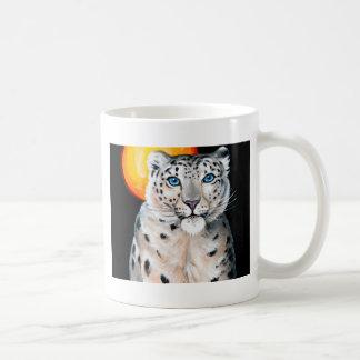 Caneca De Café Lua do leopardo de neve