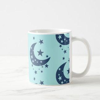 Caneca De Café Lua e estrelas