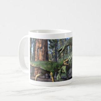 Caneca De Café Luta de Giganatosaurus
