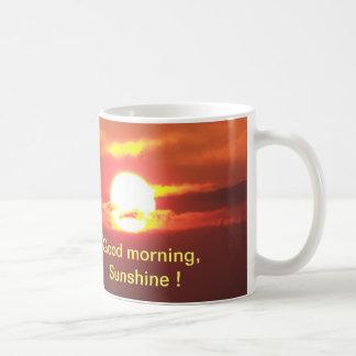 Caneca De Café Luz do sol do bom dia
