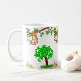 Caneca De Café macaco do chá do café que pendura em torno da