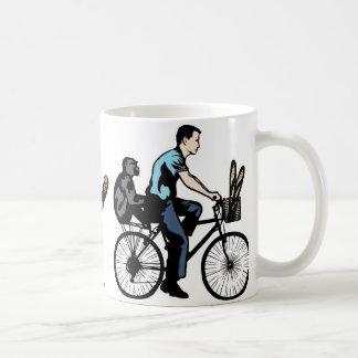 Caneca De Café Macaco na bicicleta