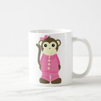 Caneca De Café Macaco nos pijamas