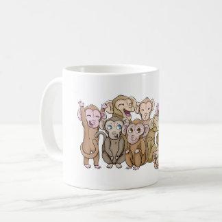 Caneca De Café Macacos múltiplos