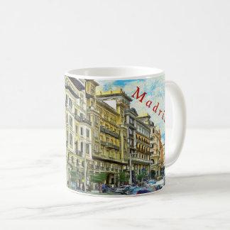 Caneca De Café Madrid. Arquitetura de Gran Vía.