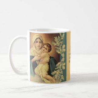 Caneca De Café Mãe abençoada que guardara a oração de Jesus da