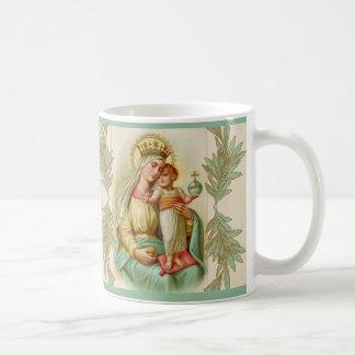 Caneca De Café Mãe abençoada que guardara o globo de Jesus da