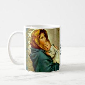 Caneca De Café Mãe abençoada que guardara o ramo de Jesus da