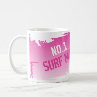 Caneca De Café Mãe do surf No.1