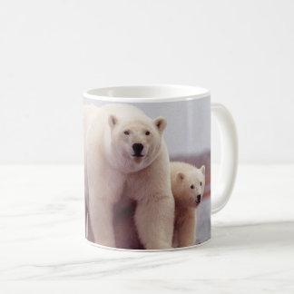 Caneca De Café Mãe e Cubs do urso polar