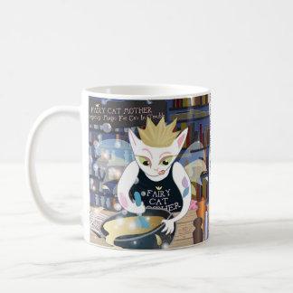 Caneca De Café Mãe feericamente do gato (dos desenhos animados do