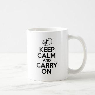 Caneca De Café Mailcarrier mantem a calma e continua