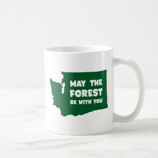 Caneca De Café Maio a floresta seja com você Washington