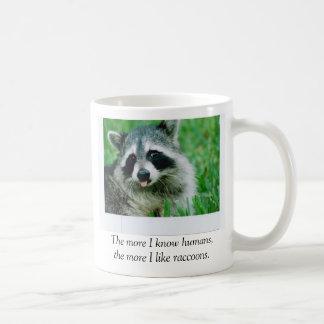 Caneca De Café Mais que eu conheço seres humanos, mais eu gosto