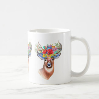 Caneca de café majestosa do veado do tema boémio