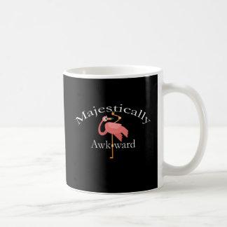 Caneca De Café Majestosa inábil Introverts o flamingo cor-de-rosa