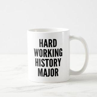 Caneca De Café Major duro da história de funcionamento